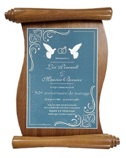 Image sur Plaque honorifique parchemin