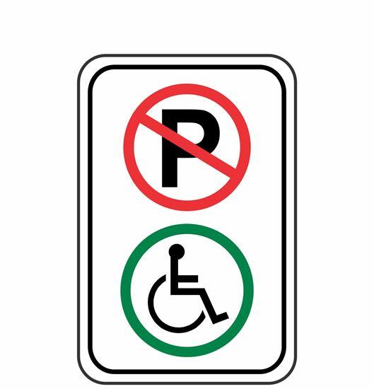Image sur Enseigne réservé mobilité réduite
