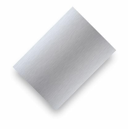 Image de Tôle d'aluminium argent satin