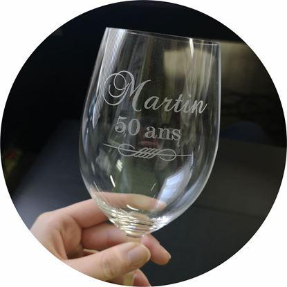 Image de Gravure sur coupe à vin