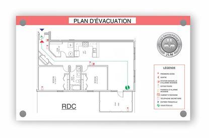 """Image de Plan d'évacuation 17"""" X 11"""""""