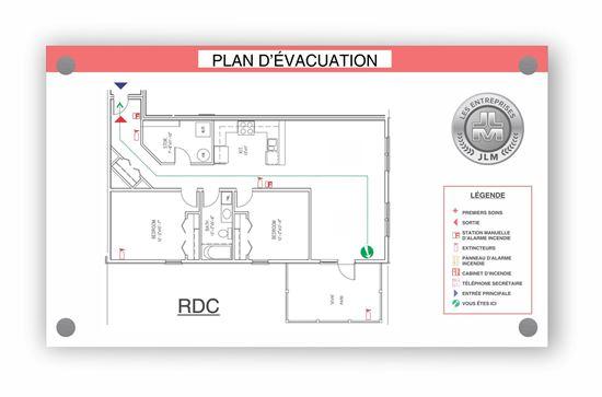 """Image sur Plan d'évacuation 17"""" X 11"""""""