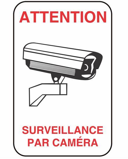Image sur Enseigne surveillance caméra