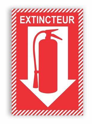 """Image de Enseigne extincteur 8.5"""" X 11"""""""