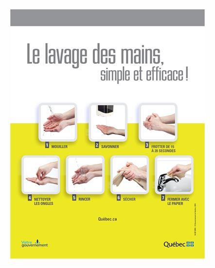 Image sur Autocollant lavage des mains