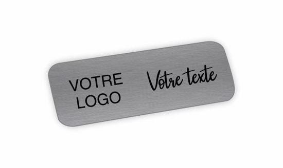 Image sur Épinglette aluminium argent avec épingle